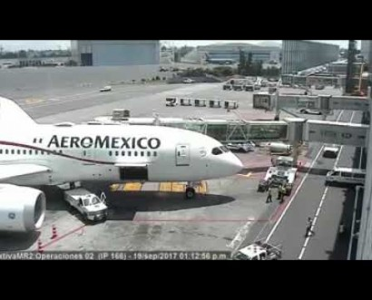 Así se sacudió un Boeing 787 de Aeroméxico tras el sismo